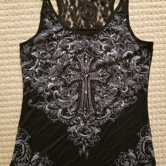 Maurices Tops - Maurices tank with rhinestones
